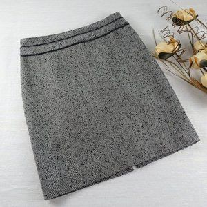White House Black Market Tweed Skirt Waist Trim
